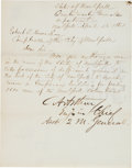 Autographs:U.S. Presidents, Chester A. Arthur Letter Signed... (Total: 2 )