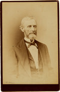 Photography:Cabinet Photos, Jefferson Davis Cabinet Card....
