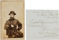 Photography:CDVs, Union General William Wells Carte de Visite and Clipped Signature.... (Total: 2 )