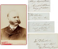 Autographs:Military Figures, Group of 17 Civil War-Related Signatures with One Cabinet Card.... (Total: 2 )