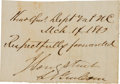 Autographs:Military Figures, James Longstreet Excised Signature,...