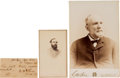 Autographs:Military Figures, William Henry Fitzhugh Lee Cabinet Card Signed, Excised Signature, and Carte de Visite.... (Total: 3 )