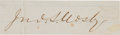 Autographs:Military Figures, Confederate Colonel John S. Mosby Excised Signature....