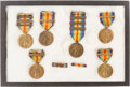 Military & Patriotic:WWI, Six U.S. WWI Victory Medals. ...