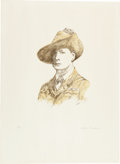 Military & Patriotic:WWI, Curtis Hooper, Artist. Original Limited Edition Lithograph pf YoungWinston Churchill....