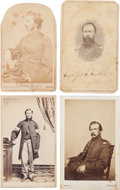 Military & Patriotic:Civil War, Four Cartes de Visite of Officers and Men From the Fifth New Hampshire Regiment, Three Identified....
