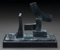 Fine Art - Sculpture, American:Contemporary (1950 to present), AMERICAN SCHOOL (20th Century). Untitled. Bronze with brasspatina. 6-1/4 inches (15.9 cm) high on a 1 inch (2.54 cm) hi...