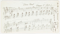 "Jerome Kern Autograph Musical Quotation Signed. American composer Kern (1885-1945) has placed upon a 6.75"" x 3.75&q..."