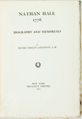 Books:Americana & American History, Henry Phelps Johnston. Nathan Hale 1776; Biography andMemorials. New York: Privately Printed, 1901. Limitededition...