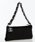 Luxury Accessories:Bags, Chanel Black Velvet Evening Bag with Gunmetal Hardware. ...