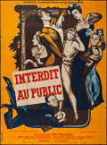"""Movie Posters:Foreign, Forbidden to the Public (Omnium International Du Film, 1949). French Grande (45"""" X 60.5""""). Foreign.. ..."""