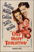 """Movie Posters:Drama, One More Tomorrow (Warner Brothers, 1946). One Sheet (27"""" X 41""""). Drama.. ..."""