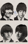 Music Memorabilia:Autographs and Signed Items, Beatles - John Lennon and Paul McCartney Signed Poster....