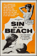 "Movie Posters:Sexploitation, Sin on the Beach (American Film Distributing, 1964). One Sheet (27""X 41""). Sexploitation.. ..."