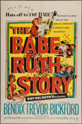 "Movie Posters:Sports, The Babe Ruth Story (Allied Artists, 1948). One Sheet (27"" X 41"").Sports.. ..."