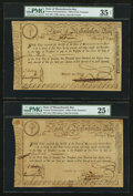 Colonial Notes:Massachusetts , State of Massachusetts Bay Treasury Certificates 6% £15 (3)February 5, 1780 Anderson MA-16 (2), MA-17. . ... (Total: 3 notes)