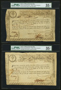 Colonial Notes:Massachusetts , Massachusetts State Lottery Third Class £15 (2), £30 January 1,1780 Anderson MA-15. Three Examples. . ... (Total: 3 notes)
