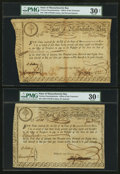 Colonial Notes:Massachusetts , Massachusetts Bay State Treasury Certificates 1777, 1779, 1780Anderson MA-13, MA-17 (2). ... (Total: 3 notes)
