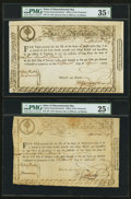 Colonial Notes:Massachusetts , State of Massachusetts Bay Various Denomination TreasuryCertificates April 26, 1779 Anderson MA-18. Three Examples.. ...(Total: 3 notes)