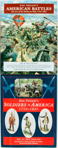 Books:Americana & American History, Don Troiani. Pair of Don Troiani First Editions. Soldiers inAmerica 1754-1865 [and:] American Battles. [Mec...(Total: 2 Items)