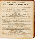 Books:Reference & Bibliography, [Dictionary]. William Perry. The Royal Standard EnglishDictionary. Brookfield: E. Merriam & Co., 1809. FourthBrook...