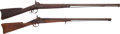 Long Guns:Muzzle loading, Lot of Two Half Stock Percussion Rifles.... (Total: 2 Items)