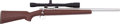 Long Guns:Bolt Action, Hall Mfg. Bolt Action Rifle with Telescopic Sight....
