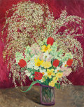 Fine Art - Painting, European:Contemporary   (1950 to present)  , MARIE LUCIE NESSI (French, 1900-1992). Fleurs de Printemps.Oil on canvas. 36 x 29 inches (91.4 x 73.7 cm). Signed lower...