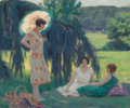 Fine Art - Painting, American:Modern  (1900 1949)  , WILLIAM MALHERBE (French, 1894-1951). In the Garden of Mr.Bieterie. Oil on canvas. 21-1/4 x 25-1/4 inches (54.0 x 64.1...