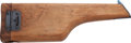 Arms Accessories, Unmarked Mauser Model 1896 Wood Shoulder Stock....