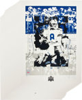 Autographs:Bats, 1993 Troy Aikman Signed Super Bowl XXVII Lithograph...