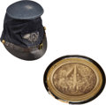 Military & Patriotic:Civil War, Officer's McDowell Pattern Forage Cap With Original Insignia Identified to Edward Stone, Chaplain 6th Vermont Infantry, & Albu...
