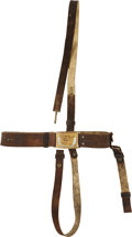 Military & Patriotic:Civil War, Civil War Cavalry Brown Buff Leather Sword Belt Complete With Cross Strap....