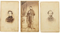 Military & Patriotic:Civil War, Three Signed Cartes de Visite of Identified Soldiers From Illinois Regiments, Including a Medal of Honor Recipient...