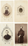 Military & Patriotic:Civil War, Four Civil Images of Union Officers and Men, Three Identified....