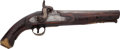 Handguns:Muzzle loading, British Percussion Boarding Pistol by Blake....