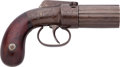 Handguns:Double Action Revolver, W. Marston Washington Arms Bar Hammer Double Action Pepperbox Revolver....