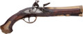 Handguns:Muzzle loading, Fancy English Flintlock Blunderbuss Pistol by Segallas....