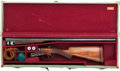 Shotgun:Double Barrel, Cased 20 gauge Webley & Scott Boxlock Ejector Double Barrel Shotgun as Retailed by Abercrombie & Fitch.. ...
