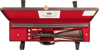 Cased 12 Gauge Holland & Holland Hammer Double Barrel Shotgun Circa 1891