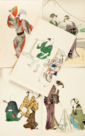 Miscellaneous:Postcards, [Japanese Postcards]. Group of 5 with Hand-Coloring. Tokyo: ShimbiShoin, [n.d., ca. 1930s]. Each measuring approximately 5....