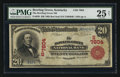National Bank Notes:Kentucky, Bowling Green, KY - $20 1902 Red Seal Fr. 639 The Bowling Green NBCh. # (S)7804. ...