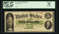 Large Size:Demand Notes, Fr. 2 $5 1861 Demand Note PCGS Apparent Very Fine 30.. ...