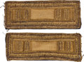 Military & Patriotic:Civil War, Pair of Civil War Cavalry Captain's Shoulder Straps....