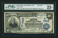 National Bank Notes:New Jersey, Cape May Court House, NJ - $10 1902 Date Back Fr. 617 The First NB Ch. # (E)7945. ...