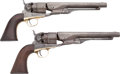 """Military & Patriotic:Civil War, Pair Colt Model 1860 Army Percussion Revolvers Inscribed to """"J.H. Widmer U.S. Army""""..."""