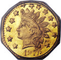 California Fractional Gold , 1878/6 50C Indian Octagonal 50 Cents, BG-952, High R.5, MS66PCGS....