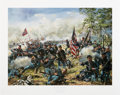 "Military & Patriotic:Civil War, Don Troiani Signed Limited Edition Print ""Rock of Erin Battle of Gettysburg, July 3, 1863"". ..."