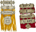Military & Patriotic:Civil War, Two Civil War Veterans' Ladder Badges From Illinois Regiments....