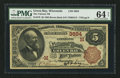 National Bank Notes:Wisconsin, Green Bay, WI - $5 1882 Brown Back Fr. 470 The Citizens NB Ch. # (M)3884. ...